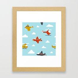 Children's plane Framed Art Print