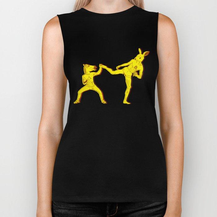 Horse-Dude versus Kick-Bunny Biker Tank