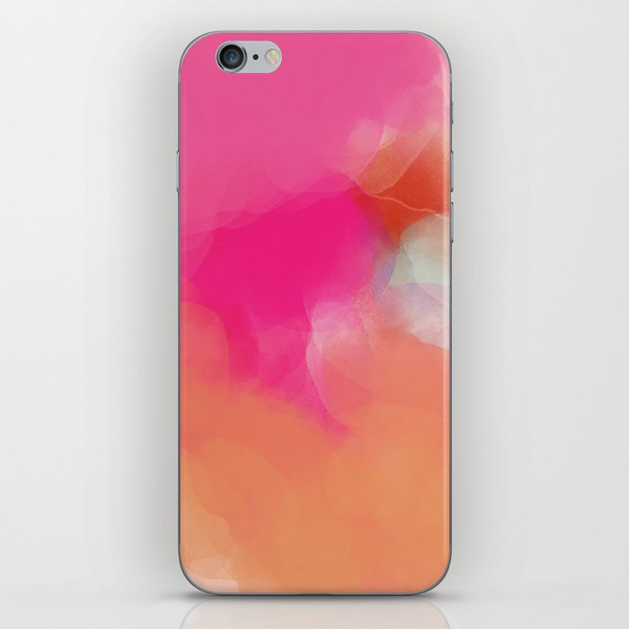 dreamy days in pink peach aquarell iPhone Skin