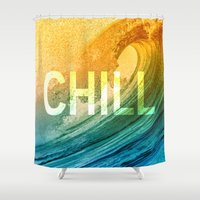 chill Shower Curtains featuring Chill by SURFskate