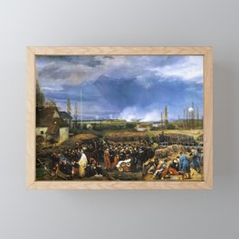 Horace Vernet - Siege of the Citadel1 of Antwerp, December 22nd 1832 - Digital Remastered Edition Framed Mini Art Print