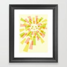 Sunburst Warm Framed Art Print
