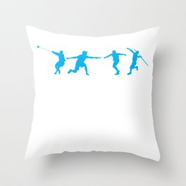 Track and Field Athlete Javelin Discus Throw Thing Throw Pillow