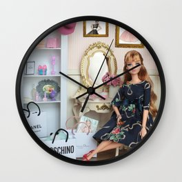 Makeup is a girl's best friend Wall Clock