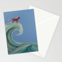 Surfing Kelpie Stationery Cards