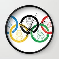 sports Wall Clocks featuring sports drink by Jordan Horstman