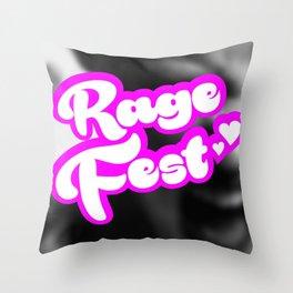 Rage Fest: Rage. Release. Heal Throw Pillow