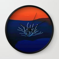 desert Wall Clocks featuring Desert by lillianhibiscus