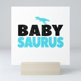 Baby Saurus Boy Girl Kids Dino Dinosaur T-Rex Gift Mini Art Print