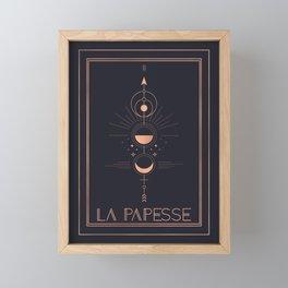 La Papesse or The High Priestess Tarot Framed Mini Art Print