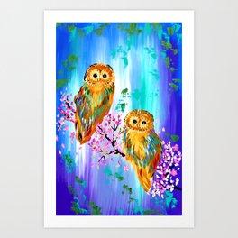 Boho Owl Art Art Print