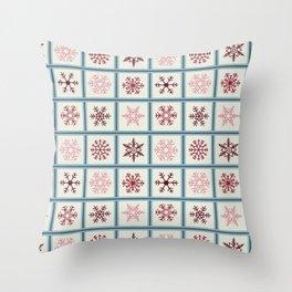 Snowflakes light Throw Pillow