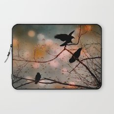 Rainy Day Crows Laptop Sleeve