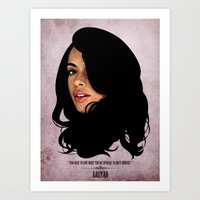 aaliyah Art Prints featuring Aaliyah by Self Toon