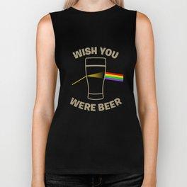 Wish You Were Beer Biker Tank