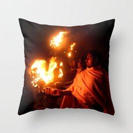 Holly Fire Throw Pillow