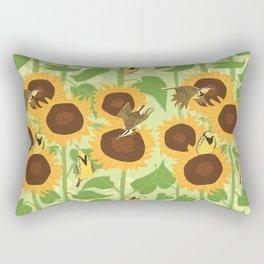 Sunbathing Meadowlarks Rectangular Pillow