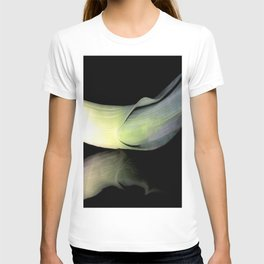 Leek on Black T-shirt