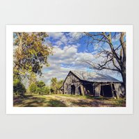 kentucky Art Prints featuring Kentucky Barn by JMcCool