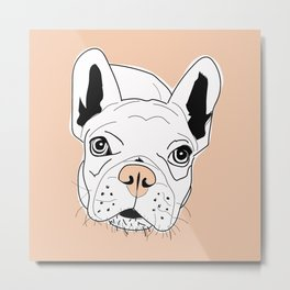 Frenchie Face Metal Print