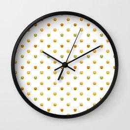 Emoji Pattern Wall Clock