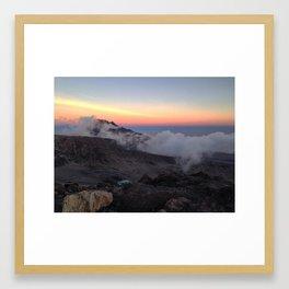 Kilimanjaro Sunset Framed Art Print