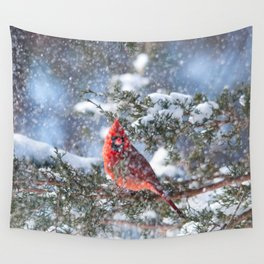 Let It Snow (Northern Cardinal) Wall Tapestry