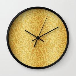 Celtic Warlord gold Wall Clock
