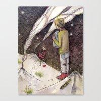 """le petit prince Canvas Prints featuring Le Petit Prince """"Responsible"""" by Danielle Ceneta"""