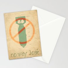 no way josé _ ban the bomb Stationery Cards