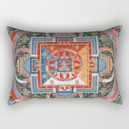Mandala of Jnanadakini Rectangular Pillow