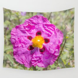 Creased Flora Wall Tapestry