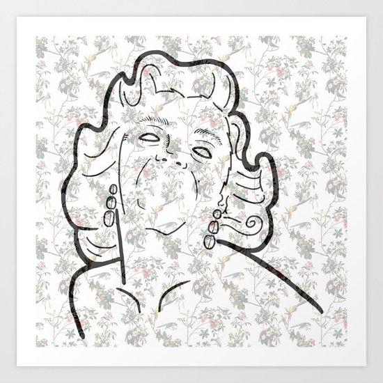 M-on-roe Art Print