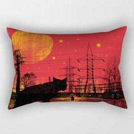Cleo in the Dark Rectangular Pillow