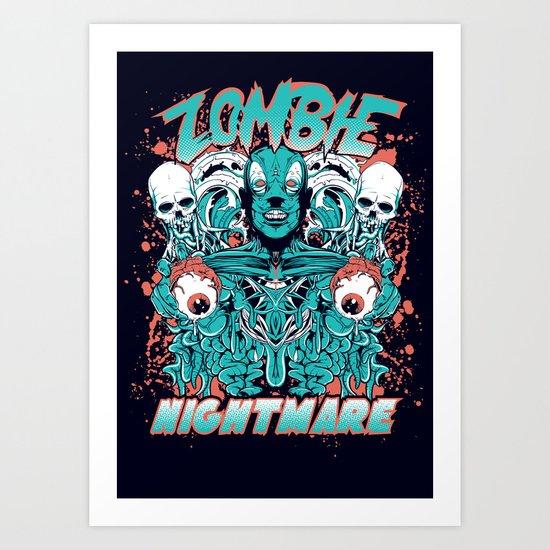 Zombie nightmare Art Print