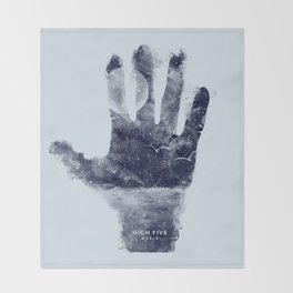 High five world Throw Blanket