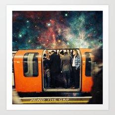 Mind The Galaxy   London Tube Series Art Print