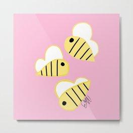 Buzz Buzz Bees Metal Print
