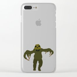 Slitheen Clear iPhone Case