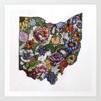 Ohio in Color Art Print