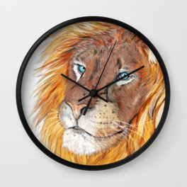 Colourful Lion Wall Clock