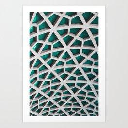 Quad-Triangular Pattern Art Print