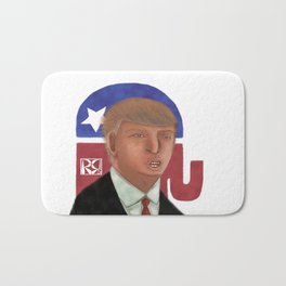 Donald Trump Caricature Bath Mat