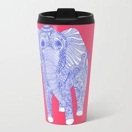 ornate Ellie in blue Travel Mug