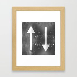 Creative Up and Down Abstract Arrows Framed Art Print