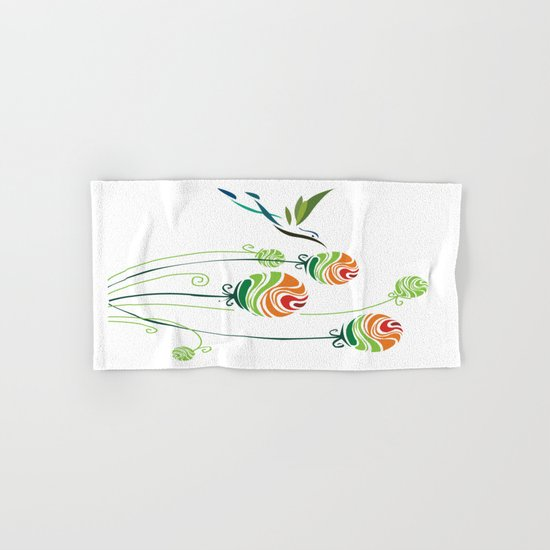 Hummingbird And Flowers Hand & Bath Towel