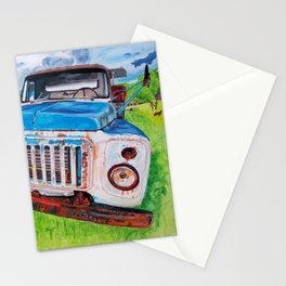 Beat up truck Stationery Cards