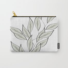 Verdure White Carry-All Pouch