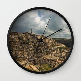 Italian landscapes - Matera Wall Clock