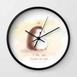 Antisocial Hedgehog Wall Clock